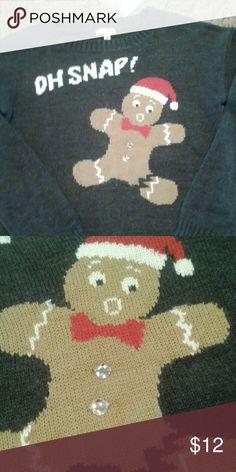 Christmas sweater Size medium but runs very small. Very good condition and smoke free home. BONGO Sweaters Crew & Scoop Necks