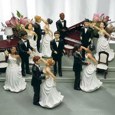 Ethnic Dancing Couple Wedding Cake Toppers
