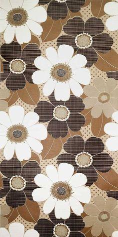 70s floral wallpaper #1120 - running meter o. roll / vintage flower wallpaper
