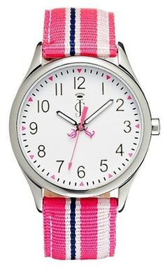 ShopStyle: Juicy Stripes Pink Strap .. love it