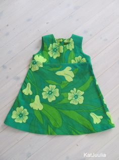 Girls dress made of Finlayson tablecloth