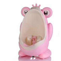 3e2bb4a1a Bebés para el Baño de Pared-Montado Urinarios Inodoro Rana Encantadora  Niños Boy Cozy Orinal Portátil A Prueba de Fugas de Niños de Los Niños olla  WC