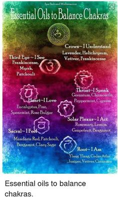 Essential Oils for each Chakra Helichrysum Essential Oil, Doterra Essential Oils, Essential Oil Blends, Carrier Oils For Skin, Chakra Meanings, Spiritual Psychology, Chakra Affirmations, Chakra Cleanse, Chakra Meditation