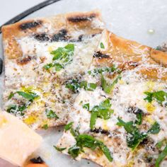 Mario Batali's Parmigiano Pizza with Black Truffles