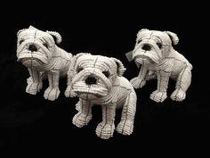 UGA Beaded English Bulldog