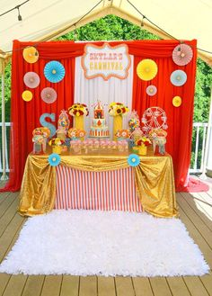 Carnival First Birthday Party Ideas Clown Party, Circus Carnival Party, Circus Theme Party, Carnival Birthday Parties, First Birthday Parties, Birthday Party Themes, First Birthdays, 2nd Birthday, Turtle Birthday