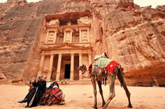 We have compiled a list of some of the best and most famous hiking trails from around the world. You will find them conveniently organized by region. Petra, Stone Heart, Hiking Trails, Backpacking, Camel, Around The Worlds, City, Animals, Cities