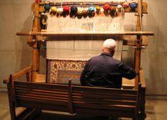 Persian Rug Weaver in the workshop