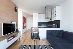 Sala con pequeña cocina
