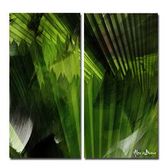 'Abstract Palm Leaves' by Alexis Bueno 2 Piece Oversized Graphic Art on Wrapped Canvas Set