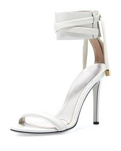 d\'Orsay Ankle-Wrap Sandal, Dove Gray by Jason Wu at Neiman Marcus.
