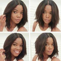 Gorgeous Choppy Bob Gabrielle Union @gabunion - Black Hair Information Community