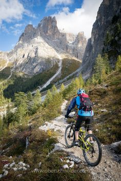 Mountain Biking in the Dolomites, Fall 2016 #3 - Dolomites, Val Gardena, Italy. Image available for licensing. Order prints of my images online, shipping worldwide via Pixopolitan See more of my work here: www.oberschneider.com Facebook: Christoph Oberschneider Photography follow me ...