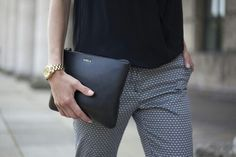 Black hermes clutch