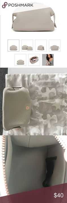 NEW Dagne Dover small Lola pouch Brand new, never used Dagne Dover small Lola pouch in ivory leather. Soft and beautiful! Dagne Dover Bags Cosmetic Bags & Cases