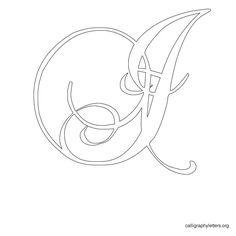 Calligraphy Letter Stencil I