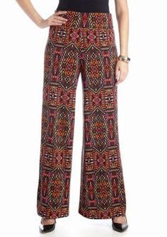 New Directions  Tribal Printed Palazzo Pant