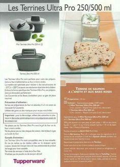 Terrines Ultra Pro 250 mL 500mL 1/4 - Tupperware : terrine de saumon à l'aneth et aux baies roses