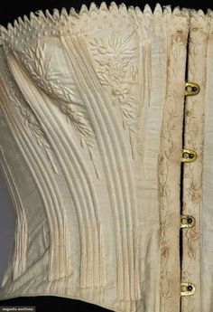 In the Swan's Shadow: EMBROIDERED COTTON CORSET, 1855-1865