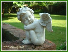 This cute little statue is 5 inches high and can be placed inside or outside. I Believe In Angels, Angel Statues, Cherub, Dream Catcher, Garden Sculpture, The Outsiders, Outdoor Decor, Cute, Inspiration