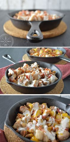 Chicken Bacon Ranch Skillet by Our Paleo Life. Make as burritos for husbands lunch???