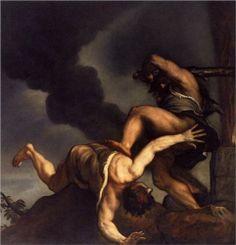 Cain and Abel - Titian.  1542-44.  Oil on canvas.  298 x 282 cm.  Santa Maria della Salute, Venice, Italy.