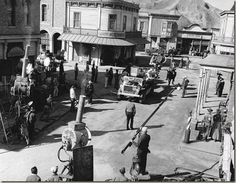 on the set  Filming on the Bonanza set- Bing Images