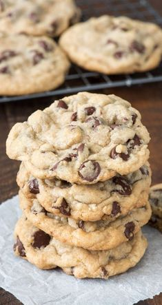 Soft Chocolate Chip Cookies Recipe - Brittany Maddux - JavaScript is currently disabled in this browser. Reactivate it to view this content. -My Soft Chocolate Chip Cookies Recipe - Brittany Maddux - JavaScript is currently disabled in thi. Basic Cookie Recipe, Basic Cookies, Homemade Cookies, Good Cookie Recipes, Recipe For Cookies, The Best Dessert Recipes, Crumble Cookie Recipe, Desert Recipes, Food Photography