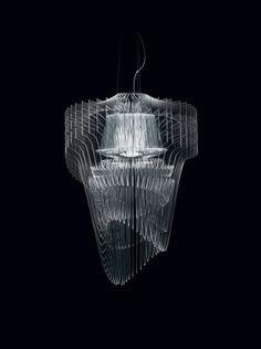 Aria Transparent by Zaha Hadid for Slamp. Lighting We Love at Design Connection, Inc. | Kansas City Interior Design http://www.DesignConnectionInc.com/Blog
