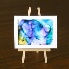 This beautiful fired ink art is easy enough for kids to make but fun for adults too. Simple kids' craft. Great activity for youth groups or reunions.