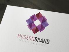 Modern Logo by Bright Pixel Design (via Creattica)