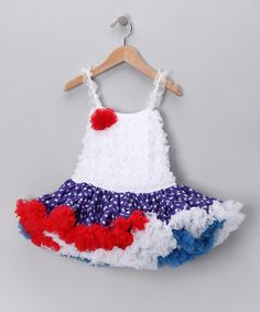 Adorable !! Blue Patriotic Dress - Infant & Toddler by Royal Gem Clothing on #zulily today!