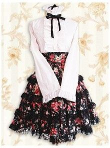 e5d890a8c3b0 Cheap Pink And Black Cotton Stand-up Collar Long Sleeves Classic Lolita  Outfit With Bow Sale At Lolita Dresses Online Shop. We provide Lolita  products with ...