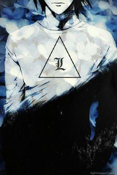I love L and Death Note so much. This would look really cool done in acrylics and I really want to do this next year in art Death Note Meme, Death Note Fanart, Death Note デスノート, Death Note Light, Manga Anime, Anime Guys, Anime Art, Otaku Anime, Shinigami