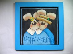 CLEARANCE 50  Off Hand Painted Hoppy Spring by barbsheartstrokes, $20.00