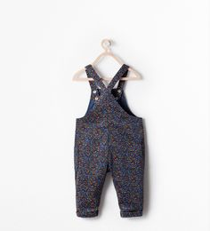 FLORAL PRINT DUNGAREES from Zara