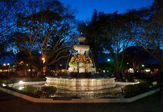 La fuente del parque central de Antigua Guatemala
