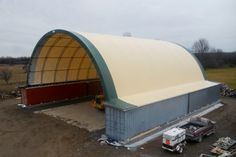 Hybrid Building Solutions installs the highest quality Fabric Structures for Coverall, Calhoun and Norseman products.