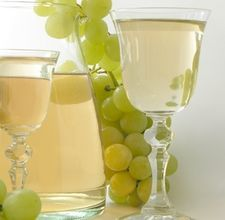 Wine and grapes are perfect for a toga party!