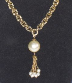 1950s Classic Vintage Chain and Large Pearl by GypsyRoadStudio, $28.00