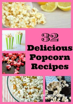 So many great ways to enjoy this fluffy fun snack or treat. Sweet, Savory, and in between. Don't miss these 32 Delicious Popcorn Recipes.