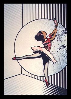 ballet art,sleeping beauty,ballet in stained glass