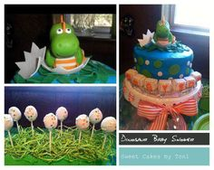 Baby Dinosaur Theme Cake and Cake Pops