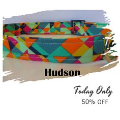 "Today Only! 50% OFF this item.  Follow us on Pinterest to be the first to see our exciting Daily Deals. Today's Product: Sale - 50% Off Bright Emerald, Mint, Pink & Orange Multicolor Geometric - ""Hudson"" - Free Colored Buckles Buy now: https://www.etsy.com/listing/470675392?utm_source=Pinterest&utm_medium=Orangetwig_Marketing&utm_campaign=January"