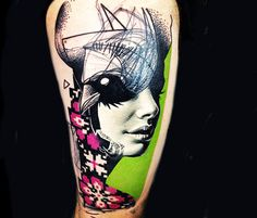 Ravenface tattoo by Timur Lysenko