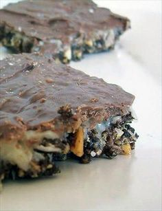 Nancy's Prayer Bars - Yum! These were a nice change from traditional Nanaimo bars