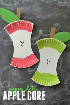 Kids Craft Project: Paper Plate Apple Core This easy kids craft project is perfect for back-to-school or fall decor! Learn how and get everything you need to make this paper plate apple core at Blitsy. Fall Crafts For Kids, Craft Projects For Kids, Fun Crafts, Art For Kids, Craft Kids, Back To School Crafts For Kids, Creative Crafts, Autumn Art Ideas For Kids, Art Projects