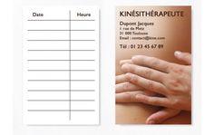 Cartes De RDV Simples N4 Kine Rdv Carte Visite