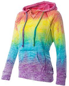 Customizable multiple colors Ladies Burnout Hoodie EDS