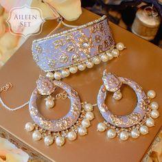 Stylish & Vibrant Meenakari Jewellery Designs for Every Bride-to-be! - Stylish & Vibrant Meenakari Jewellery Designs for Every Bride-to-be! Indian Jewelry Earrings, Indian Jewelry Sets, Indian Wedding Jewelry, Jewelry Design Earrings, Necklace Designs, Bridal Jewelry, Jewellery Bracelets, Indian Bridal, Clay Jewelry